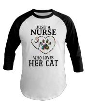 Nurse - Loves her cat Baseball Tee thumbnail