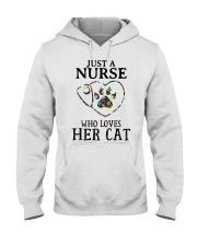 Nurse - Loves her cat Hooded Sweatshirt thumbnail