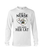 Nurse - Loves her cat Long Sleeve Tee thumbnail