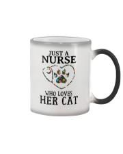 Nurse - Loves her cat Color Changing Mug thumbnail