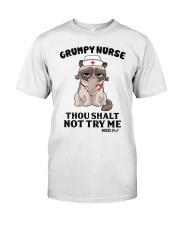 Grumpy Nurse Thou Shalt Classic T-Shirt front