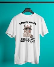 Grumpy Nurse Thou Shalt Classic T-Shirt lifestyle-mens-crewneck-front-3
