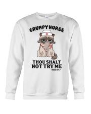 Grumpy Nurse Thou Shalt Crewneck Sweatshirt thumbnail