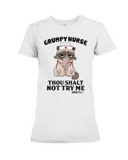 Grumpy Nurse Thou Shalt Premium Fit Ladies Tee thumbnail