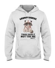 Grumpy Nurse Thou Shalt Hooded Sweatshirt thumbnail