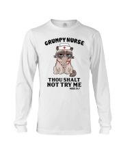 Grumpy Nurse Thou Shalt Long Sleeve Tee thumbnail