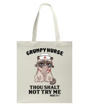 Grumpy Nurse Thou Shalt Tote Bag thumbnail