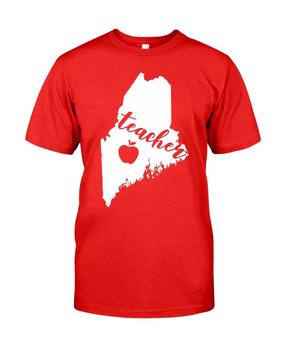 Maine Teacher Map Classic T-Shirt