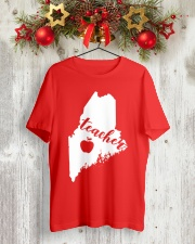 Maine Teacher Map Classic T-Shirt lifestyle-holiday-crewneck-front-2