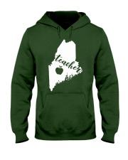 Maine Teacher Map Hooded Sweatshirt thumbnail