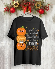 Nurse - Care For Pumpkins Halloween Classic T-Shirt lifestyle-holiday-crewneck-front-2