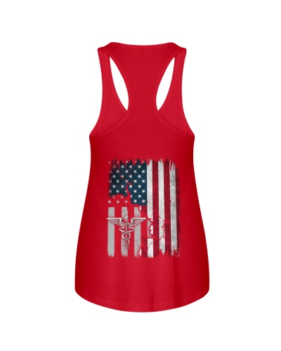 Nurse - American Flag - Vintage Retro Design