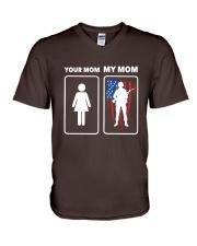 Veteran - Mom V-Neck T-Shirt thumbnail