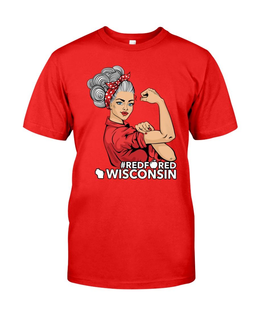 Wisconsin Strong Teacher - RedforED Classic T-Shirt