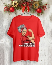 Wisconsin Strong Teacher - RedforED Classic T-Shirt lifestyle-holiday-crewneck-front-2