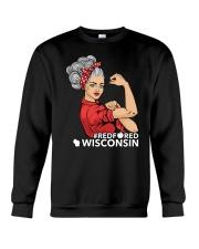 Wisconsin Strong Teacher - RedforED Crewneck Sweatshirt thumbnail