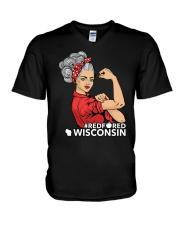 Wisconsin Strong Teacher - RedforED V-Neck T-Shirt thumbnail