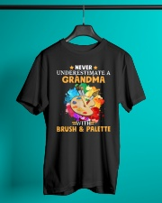 Never Underestimate a Grandma with Brush - Palette Classic T-Shirt lifestyle-mens-crewneck-front-3