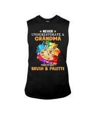 Never Underestimate a Grandma with Brush - Palette Sleeveless Tee thumbnail