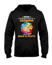 Never Underestimate a Grandma with Brush - Palette Hooded Sweatshirt thumbnail