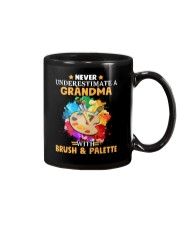 Never Underestimate a Grandma with Brush - Palette Mug thumbnail