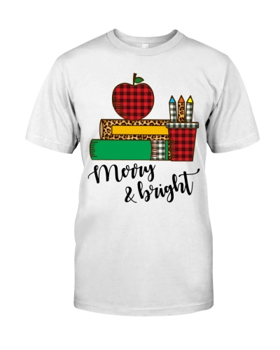 Teacher - Merry and Bright - Christmas funny Gift