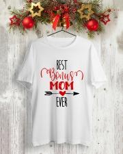 Best Bonus Mom Ever Classic T-Shirt lifestyle-holiday-crewneck-front-2