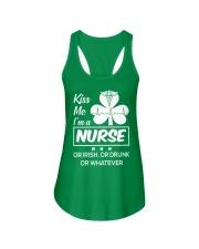 Kiss me - I'm a Nurse Ladies Flowy Tank thumbnail