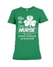 Kiss me - I'm a Nurse Premium Fit Ladies Tee thumbnail