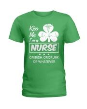 Kiss me - I'm a Nurse Ladies T-Shirt thumbnail