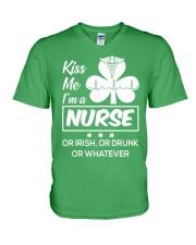 Kiss me - I'm a Nurse V-Neck T-Shirt thumbnail