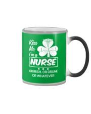 Kiss me - I'm a Nurse Color Changing Mug thumbnail