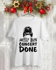 Music Teacher - Messy Bun - Concert Done Classic T-Shirt lifestyle-holiday-crewneck-front-2