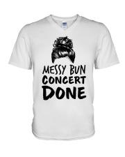 Music Teacher - Messy Bun - Concert Done V-Neck T-Shirt thumbnail