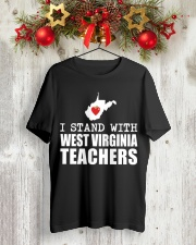 Teacher - Stand with West Virginia Teachers Classic T-Shirt lifestyle-holiday-crewneck-front-2