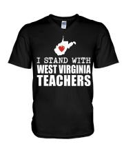 Teacher - Stand with West Virginia Teachers V-Neck T-Shirt thumbnail