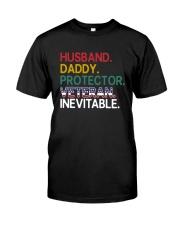 Husband - Daddy - Veteran - Inevitable Premium Fit Mens Tee thumbnail