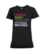 Husband - Daddy - Veteran - Inevitable Premium Fit Ladies Tee thumbnail
