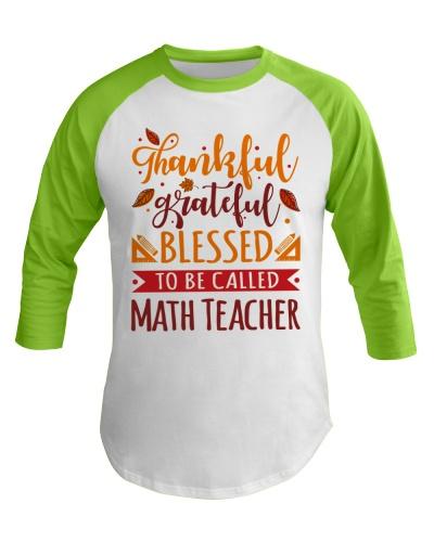 Math Teacher - Thankful Grateful Blessed
