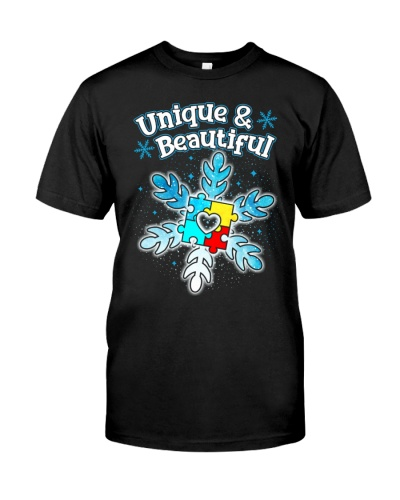 Autism - Unique and Beautiful - Christmas shirt
