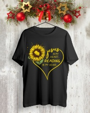 Librarian - Reading in my veins Classic T-Shirt lifestyle-holiday-crewneck-front-2