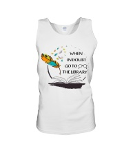 When In Doubt Go To Librarian  Unisex Tank thumbnail