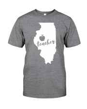 Illinois Teacher - Map Classic T-Shirt tile