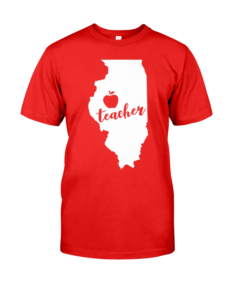 Illinois Teacher - Map Classic T-Shirt