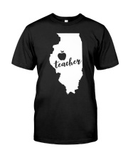Illinois Teacher - Map Premium Fit Mens Tee thumbnail