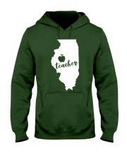 Illinois Teacher - Map Hooded Sweatshirt thumbnail