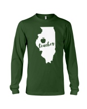 Illinois Teacher - Map Long Sleeve Tee thumbnail