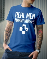 Real Men Marry Nurses - Firefighter Classic T-Shirt lifestyle-mens-crewneck-front-6