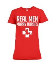 Real Men Marry Nurses - Firefighter Premium Fit Ladies Tee thumbnail
