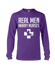 Real Men Marry Nurses - Firefighter Long Sleeve Tee thumbnail